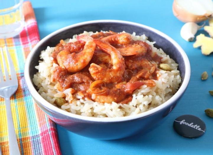 crevettes massal et riz parfum la recette de crevettes massal et riz parfum foodette. Black Bedroom Furniture Sets. Home Design Ideas