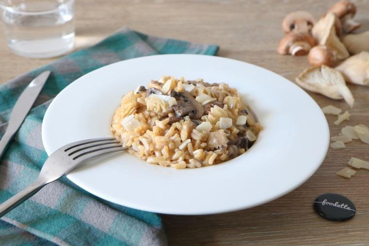 Risotto aux deux champignons et Parmigiano Reggiano