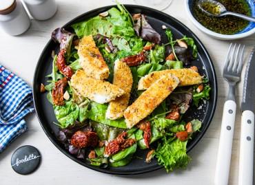 Salade italienne à la Mozzarella panée