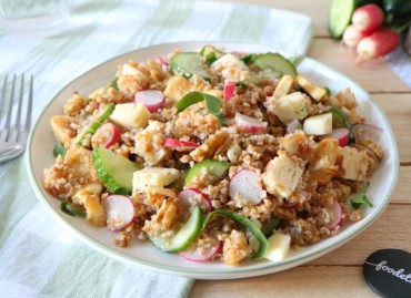 Salade printanière à la Mozzarella truffée