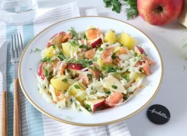 Salade scandinave au saumon fumé de Marie-France