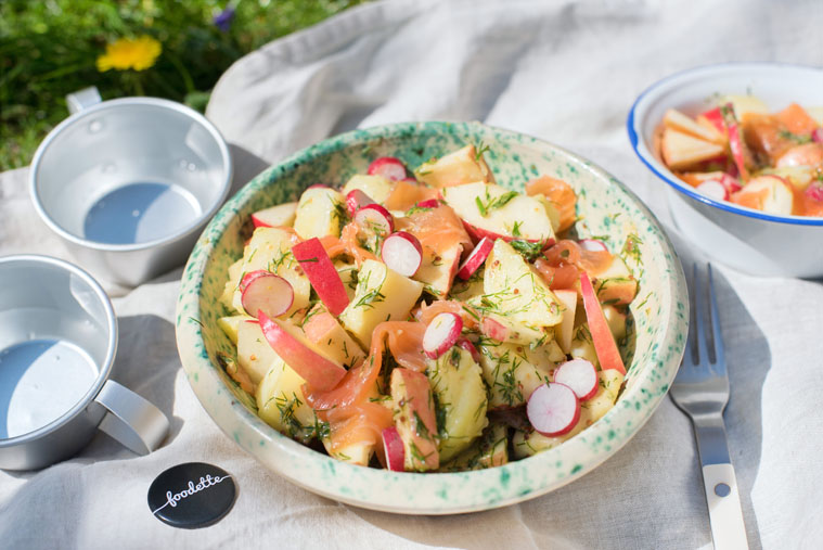 Salade de saumon fumé à la suédoise