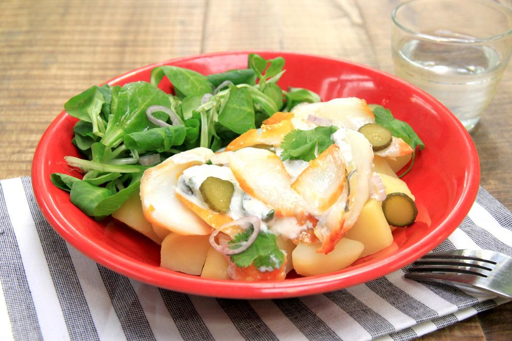 salade de haddock et pommes de terre la recette de salade de haddock et pommes de terre foodette. Black Bedroom Furniture Sets. Home Design Ideas