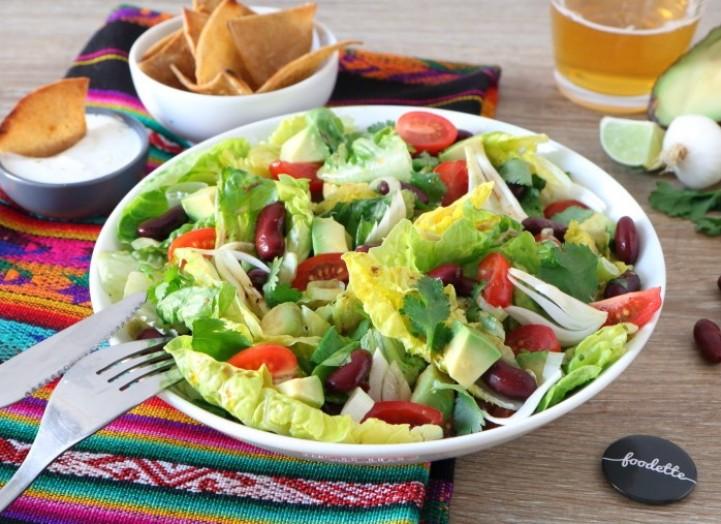 Salade mexicaine aux nachos maison