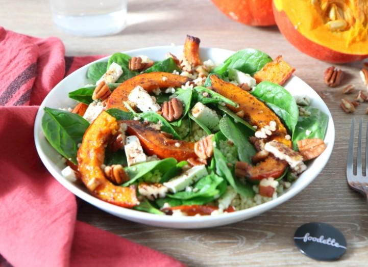 Salade de potimarron rôti à la feta