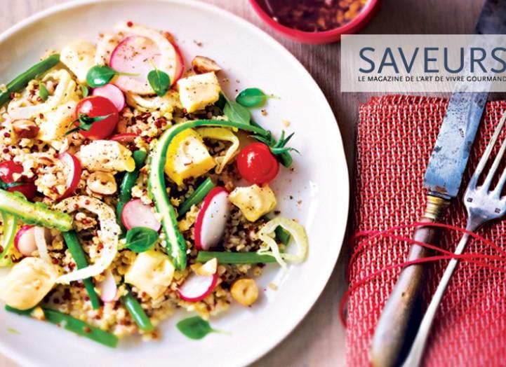 Salade printanière au Livarot