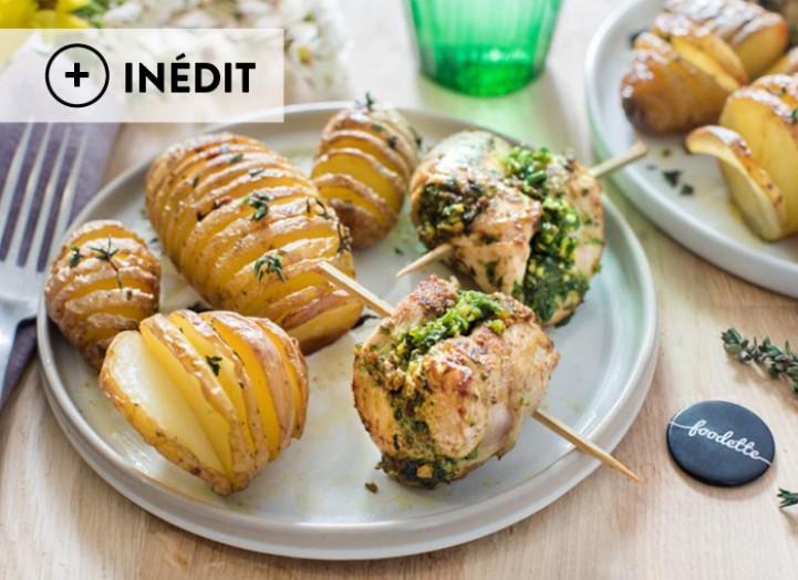 Saltimbocca au pesto vert et pommes de terre à la suédoise
