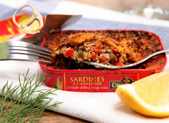 Sardines gratinées à partager