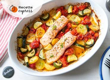 Saumon et légumes rôtis à la provençale