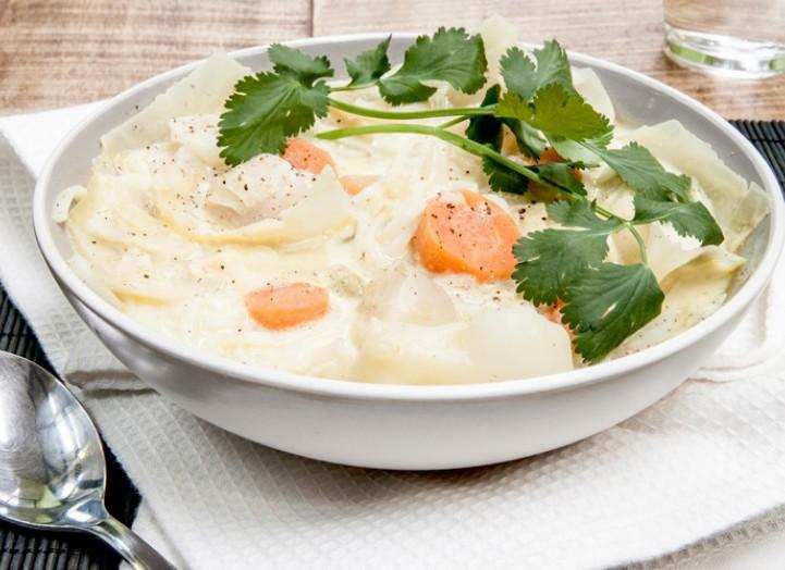 Soupe de printemps au curry