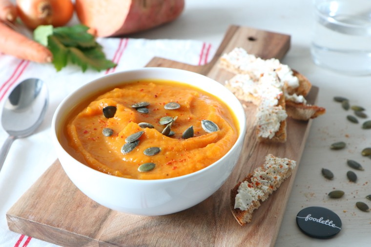 La soupe toute douce et ses mouillettes de Brocciu