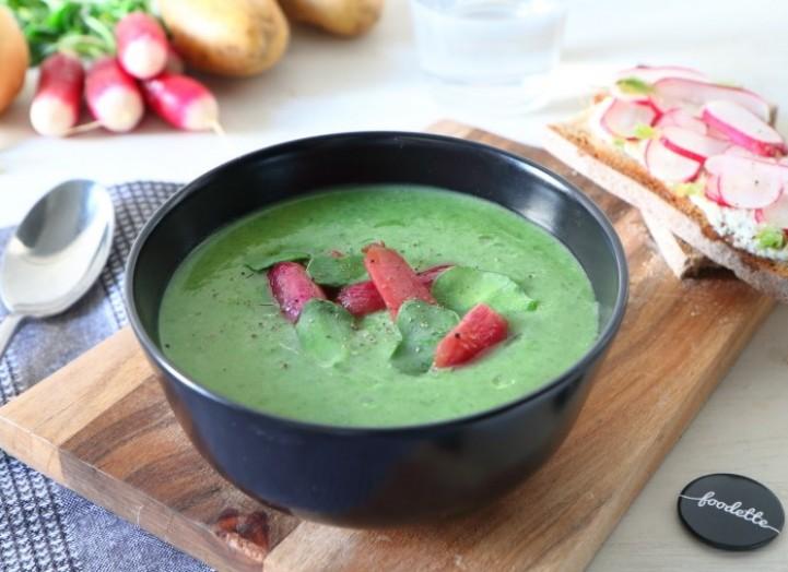 Soupe et tartines de printemps 100% radis