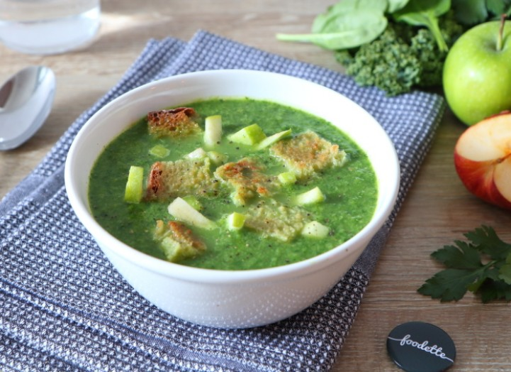 Soupe croquante toute verte
