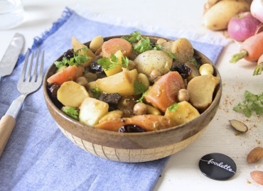 Tajine de légumes nouveaux à la marocaine