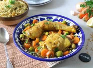Tajine de poulet fermier comme à Casablanca