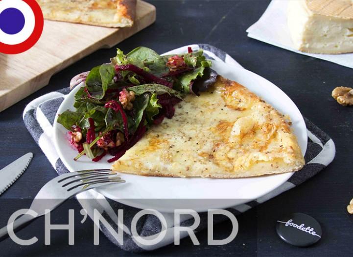 Tarte au maroilles et ch'tite salade