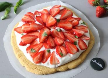 Tarte aux fraises au sirop de basilic frais