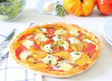 Tarte fine estivale tomates-Chèvre