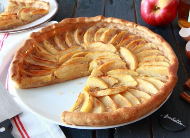 Tarte normande aux pommes, Calva et cannelle