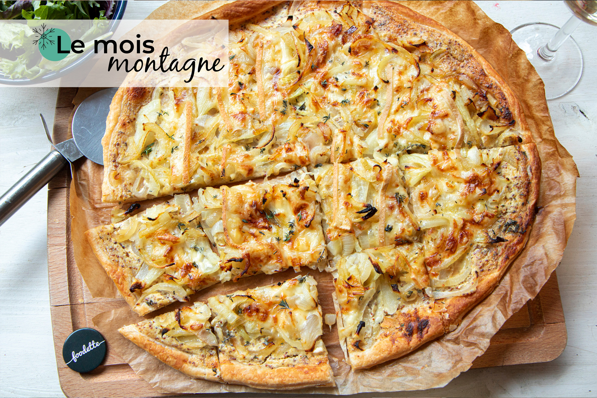 Tarte fine oignon/Raclette