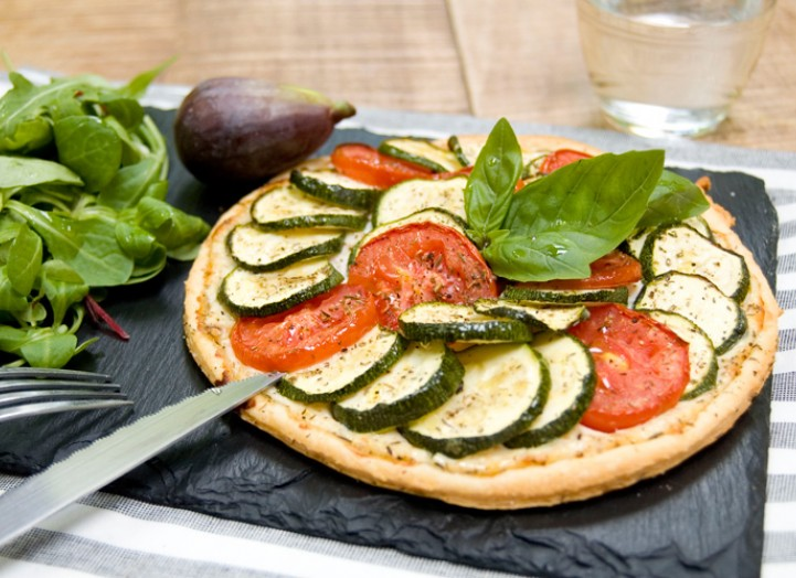 Tarte ultra Fine courgettes et figues