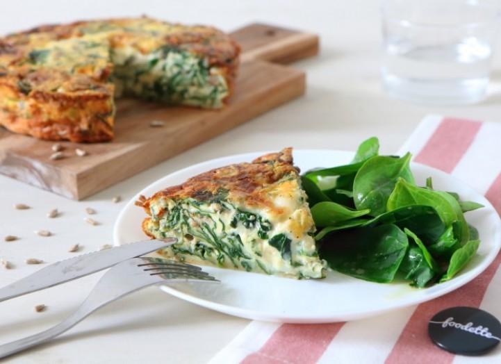 Tarte en trompe l'oeil aux épinards et gorgonzola