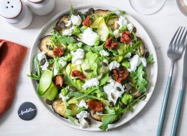 La Toscane : légumes grillés, pesto de roquette et Mozzarella