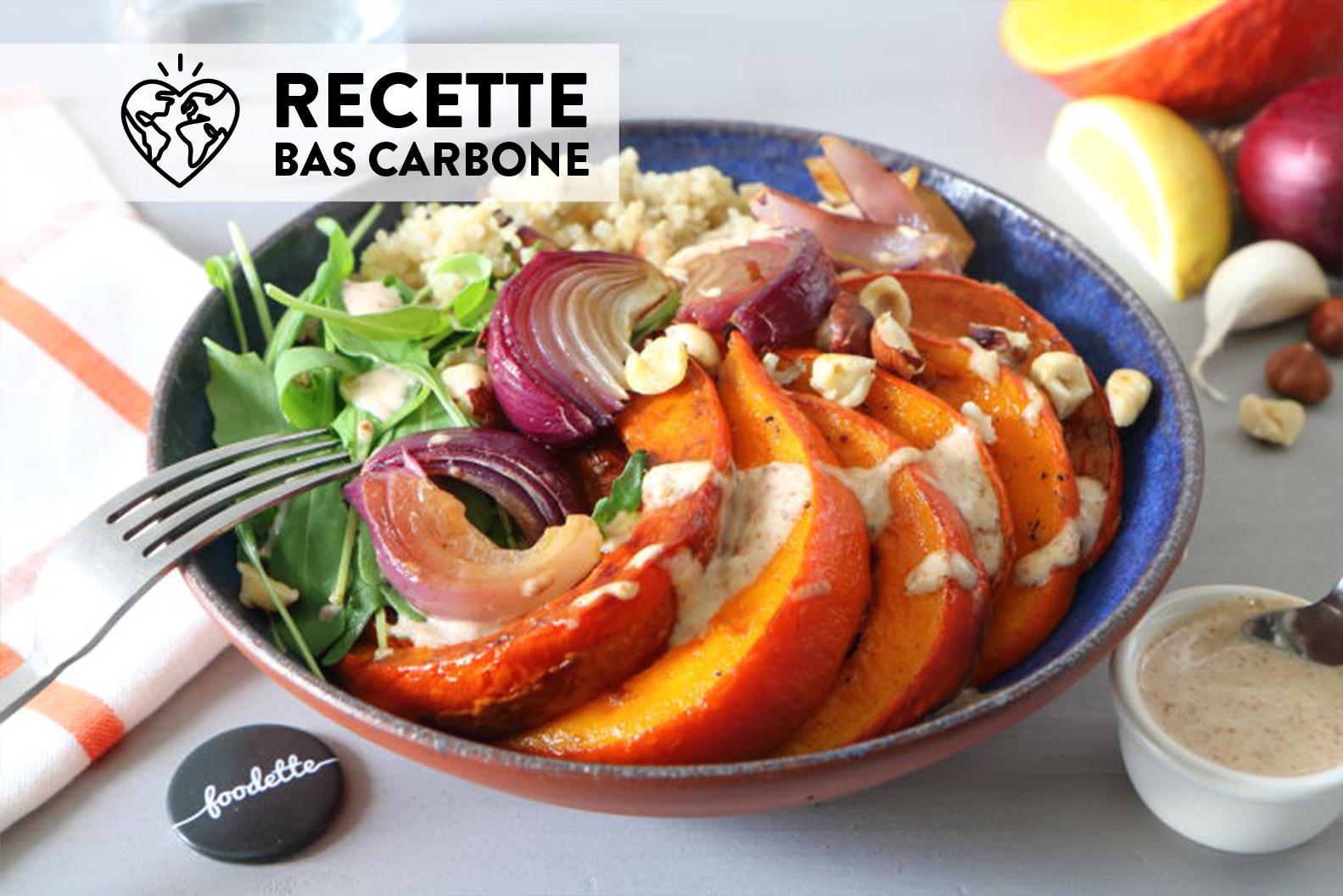 Veggie Bowl Au Potimarron Roti Et Sauce Amande La Recette De