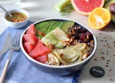 Veggie bowl survitaminé à la Feta rôtie