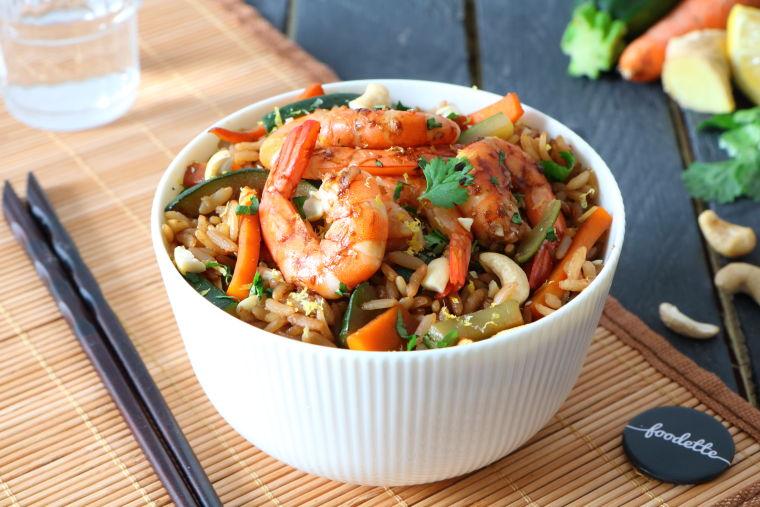 Wok de crevettes comme à Shanghai