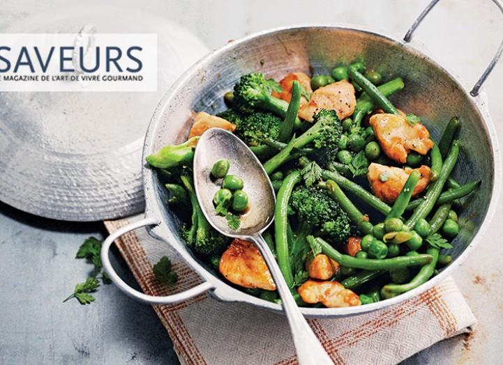 Wok de poulet aux légumes croquants