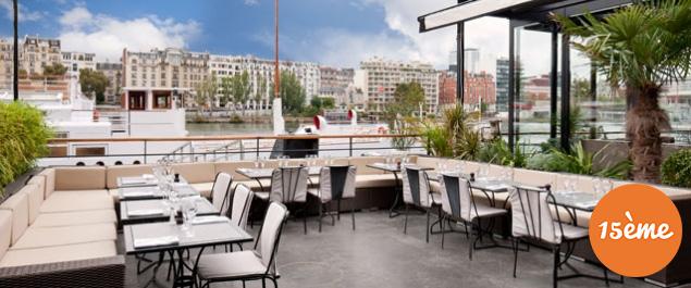 Les meilleures terrasses paris par arrondissement foodette - Port de javel haut 75015 paris ...