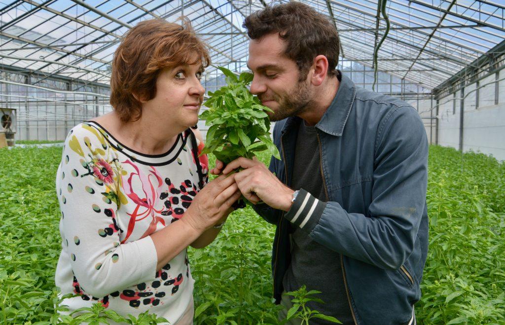 Louis (Foodette) et Mireille Auda reniflent de la menthe