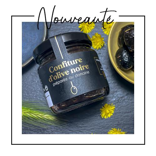 Nouveauté : confiture d'olive noire