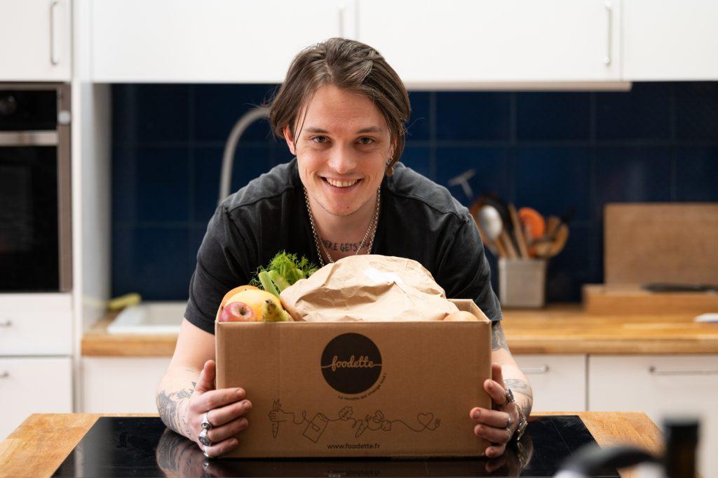 Jeudi 25 mars , tournage avec Jarvis Scott ( Top chef 12 ) pour Foodette